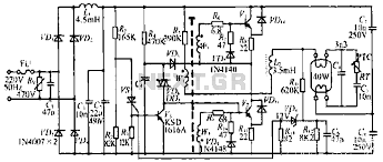 light laser led > fluorescent circuits > 40w fluorescent lamp 40w fluorescent lamp electronic ballast circuit schematic