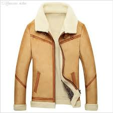 2018 fall 2016 new men suede leather jackets winter fur coats size m 4xl vintage camel coffee man wool outerwear warm fleece lining from sizhu