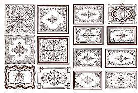 ornate border frame vector free vector