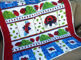 26 best Eric Carle Quilt Ideas images on Pinterest | Eric carle ... & The Grouchy Ladybug by Eric Carle Crib or Lap Quilt Adamdwight.com