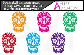 Free sugar skull svg cut file, printable vector clip art download. 13 Sugar Skull Vector Designs Graphics