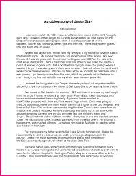 biographical narrative essay example autobiographical how to write   how to write a autobiography essay examples sample of biography about an author yourself 572 how