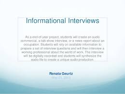 How To Conduct An Informational Interview Informational Interview Lesson Plan