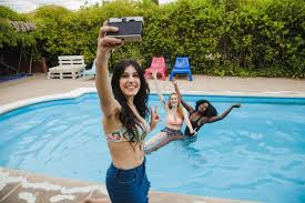 swimming pool with friends. Interesting Swimming Friends Pose For Selfie In The Swimming Pool Free Photo Intended Swimming Pool With N