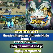 Download] Naruto shippuden ultimate Ninja Storm 4 Mod iso ppsspp emulator –  PSP APK Iso Rom highly compressed 800MB - Wapzola