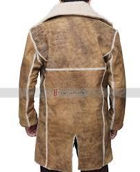 mens sherpa leather coat distress tan sherpa coat