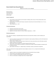 Home Health Nurse Resume Berathen Com