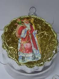 Details Zu Christbaumschmuck Reflexkugel Weihnachtsmann Oblatte Nikolaus Leonische Drähte
