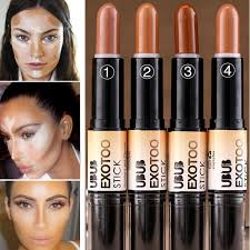 whole branded makeup high quality double ended color corrector concealer dark skin bronzer highlighter glow stick contouring makeup cream bronzer best