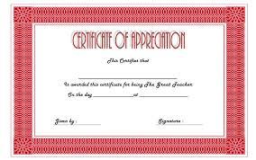 Best Teacher Certificate Templates Free Teacher Appreciation Certificate Templates Best 10 Templates