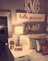 ... Amazing Room Decor Teen Room Decorations Ideas With Name Plate Decor  Wall And Frames ...