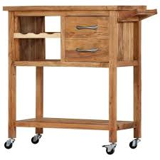 <b>Kitchen Trolley 80x45x91</b> cm Solid Acacia $472 | 282754 | Cooking ...