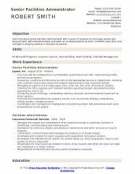 Building A Free Resumes Facilities Administrator Resume Samples Qwikresume