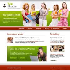 Template Websites Awesome Students Education XHTML Template 48 Education Kids