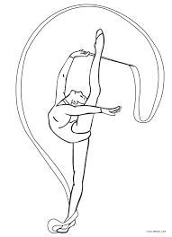A simple coloring page for teaching colors. Free Printable Gymnastics Coloring Pages For Kids