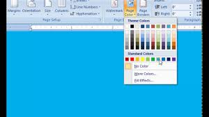 Small Picture Microsoft word 2007 How to change the page color of your document