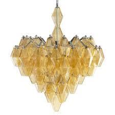 boho modern retro deco amber diamond drop 6 light chandelier kathy kuo home