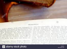 old encyclopedias and open book pages with decorative letter print close up