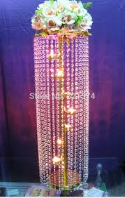 tall candelabra wedding centerpieces for lot tall crystal table candelabra centerpiece gold chandelier wedding decoration
