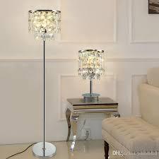 modern luxury crystal floor lamp smoky gray transpa table lamp simple modern study led floor light for bedroom livingroom luxury table lamp crystal