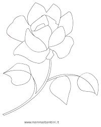 Disegno Rosa Da Colorare Mamma E Bambini