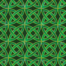 Celtic Pattern Magnificent Stylized Celtic Pattern On Dark Green Background Royalty Free
