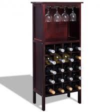 wine bottle storage furniture. Burgundy Wooden Wine Cabinet Bottle Rack For 20 Bottles Storage Furniture