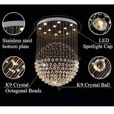 modern crystal pendant lamp ceiling light fixture lighting