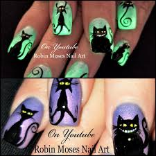Robin Moses Nail Art: Spider Nails! Easy 3d Halloween 2017 Glow in ...
