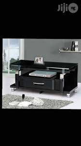 imported wooden with glass top tv stand