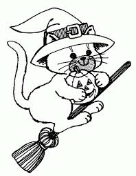 Small Picture Halloween Cat Coloring Pages To Print Coloring Pages