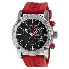 burberry sport watch men burberry sport endurance chronograph black dial red rubber men s watch bu7706