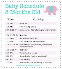 8 Month Old Feeding Chart Discover A New 8 Month Old Schedule For Your Baby Samples