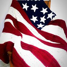 American Flag Crochet Pattern Adorable America Flag Crochet Blanket With FREE Pattern YarnHookNeedles