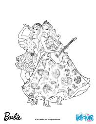 Princess Tori And Keira Popstar Barbie Coloring Page More Barbie