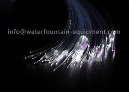 decorative underwater pool lights end glow fiber optic cable with black cover
