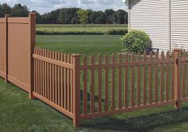 brown vinyl picket fence. Residential Vinyl Fence Panels \u0026 Fencing Installation . Brown Picket E