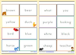 Brown Bear Brown Bear What Do You See Words Brown Bear Brown Bear What Do You See Reading Cards Mamas
