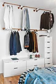 ... Wardrobe Racks, Hanging Clothes Rack From Ceiling Hanging Clothes Rack  Ikea Open Clothing Storage Diy ...