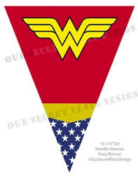 printable wonder woman superhero party gift bag by