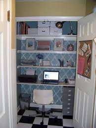 office in a closet. Wonderful Closet Stenciled And Checkered Computer Office Inside In A Closet F