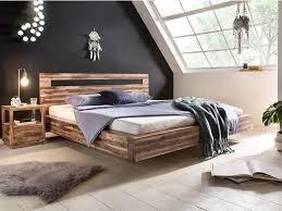 Woodkings Holz Bett 180x200 Marton Doppelbett Akazie Rustic
