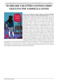 Scaricare I quattro cantoni Libro Gratuito PDF Gabriella Genisi