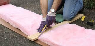 tip for cutting fiberglass insulation easily