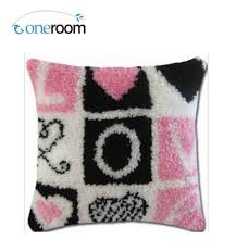 bz063 love hook rug kit pillow diy unfinished crocheting yarn mat latch hook rug kit floor