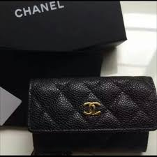 chanel card holder. chanel business card holder sold tsauth black caviar small from ideas r