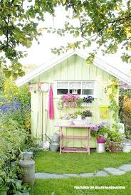 Shed color ideas Paint Colours Cute Garden Pastel Shed Schickkinfo In Need Of Shed Color Ideas Check Out These Pretty Pastel Sheds