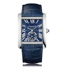 cartier tank watches the watch gallery cartier tank mc automatic stainless steel blue dial mens watch wsta0010