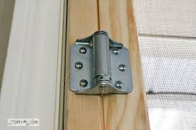 spring loaded hinges for door. add a spring loaded hinge / how to build cheap screen door for french doors hinges