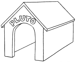 Download Pluto Dog House Coloring Page - deColoring - Clip Art Library